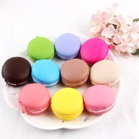 Wholesale Phone Mold - Cute Colorful Soft Squishy Macaron Deser Cake Cell Phone Straps Chains Kids Toys Christmas Gift Charms Cookie Mold Free DHL