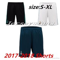 Wholesale Drawstring Top - wholesales 17 18 madrid home away top thai AAA quality custom number football shorts soccer uniforms soccer clothing pants