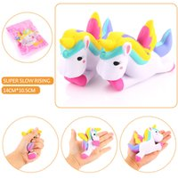 Venda por atacado 13 centímetros Kawaii Squishy Unicorn Slow Rising Squeeze Toy Collectibles Cute Phone Straps Pingente Pão Creme De Bolo Scented Kids Gift