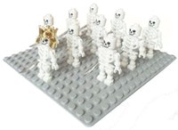 block land - 10pcs per set Minifigs Skeleton Swivel Arms minifigure nelegokin Building Block spaceman astronaut land force army
