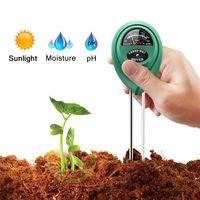ingrosso luci del giardino pot-Misuratore di umidità del terreno 3 in 1 Misuratore di umidità del suolo / Luce / Valore pH Strumento per potenziometri per piante da giardino Prato disponibile HH7-179