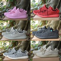 Wholesale Classic Winter Boots - 2018 Kanye West Boost 350 Moonrock Oxford Tan Turtle Dove Pink Classic Running Shoes Seankers Men Basketball Shoes Sport Boots US 5-11.5