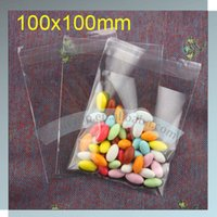 Wholesale Cellophane Wrap Wholesalers - Wholesale- opp bag with self adhesive (100x100mm) clear cellophane bags cellophane candy bags