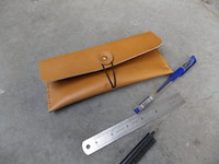 Wholesale Pen Cow - Wholesale-Free shipping nostalgic retro style. Rough expansion. Handmade entire cow leather first layer of leather cutting pen