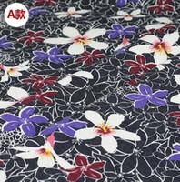 Wholesale Skirts Leggings Flowers - Wholesale 7 colour Peony flower elastic imitation denim fabric, print satin fabric,tweed Leggings skirt fabrics B211