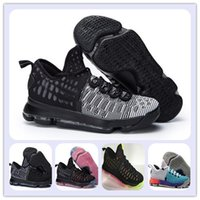 Wholesale mic m - Kevin Durant Basketball Shoes KD 9 MIC DROP Black Black White PREMIERE Sports Shoes KD VIIII (9) Sneaker cheap Men Athletics wholesale price