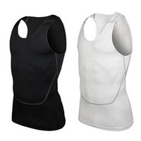 Wholesale Tight Sports Undershirts - Wholesale-Men's Gym Sports Basketball Jersey Training Vest Tank Top Quick-dry Bodybuilding Vest Tights Tops Undershirt