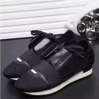 Wholesale Italy Brand Leather Shoes - Big Size Italy Luxury Brand Mens Women Casual Flats Running Shoe Lace-up Color Matching Male Breathable Sneakers Zapatos Hombre Chaussure