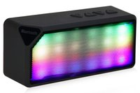 Wholesale Mini Led Cell Phone - Wireless Portable Music Sound Box LED Flash LightinMini Bluetooth Speaker Subwoofer Loudspeakers with Mic for Cell Phone