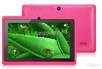 Wholesale q88 q8 a33 quad core tablet resale online - 7 inch Allwinner A33 Q88 Q8 Quad Core Android dual camera Tablet PC GB GB ROM MB WiFi EPAD Youtube Facebook Google DHL Free PC