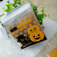 Wholesale Plastic Cookies Pack Bag - 100pcs lot Halloween packing bags 10*10*3 cm snow man and pumpkin style for cookie candy (2)