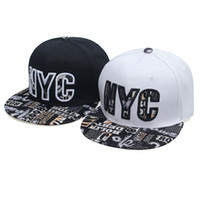Wholesale Snapback Embroidery Nyc - Desinger NYC Embroidery Snapback Hats Adjustable Baseball Snapback Hats For Adult Hip Hop Caps Basketball Caps For Sales