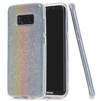 Bling Glitter Sparkle 3 Layer Case Shockproof Soft TPU Cover Para iphone X 8 7 mais Samsung note8 s8 s7 LG v30 Alcatel Idol5 Moto G5 OPPBag