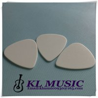 Wholesale Guitar Picks Blank - White Color Nylon guitar picks,Nylon material guitar plectrums 1.0mm Blank Picks