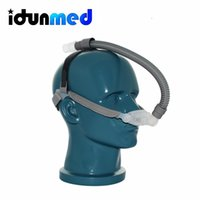 Wholesale Masks For Sleeping - idunmed CPAP Nasal Pillows Mask Respirator With Adjustable Headgear Tubing For Sleep Apnea Anti Snoring Free Shipping