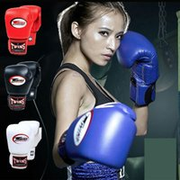 Wholesale White Leather Mittens - Muay Thai karate taekwondo glove Boxing exercise mitten Hot design Free shipping Twins Fighting wrist support