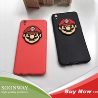 Wholesale Mario Cell Phone - Funny Super Mario Pattern Cell Phone Case For iphone 6 6 plus 4.7 5.5 Inch