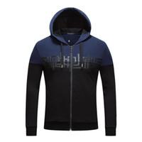 Wholesale Hoody Zip Sleeve - Mens hoodies jackets designs full zip hoodie mens winter clothes hoody jacket men luxury brand sweatershirt men D26