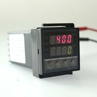 Wholesale High Temperature Digital Thermostats - Free Shipping Temperature Controller Thermostat Dual Digital PID SSR Output Display 0~400 Celsiusb REX-C100 High Quality