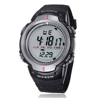 Wholesale Low Price Chronograph Watches - Wholesale-Large amount choices and lowest price Waterproof Outdoor Sports Men Digital LED Quartz Alarm Date Wrist Watches