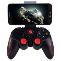 android için oyun denetleyicileri toptan satış-T3 Akıllı Telefon Oyun Denetleyicisi Kablosuz Joystick Bluetooth 3.0 Android Gamepad Oyun Uzaktan Kumanda telefon PC Tablet için