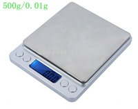 Wholesale Mini Tool Jewelry - 500g 0.01g Mini Digital Kitchen Electronic Scale Portable Food Diet Jewelry Scales With Two Trays Cooking Tools Weight Balance