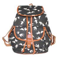 Wholesale School Bag Handmade - 2016090922 Exclusive Handmade Vintage Rucksack Printing Canvas Women Backpack Mujer Mochila Escolar Feminina School Bag