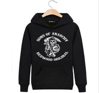 Wholesale China Sweatshirts - 2017 Autumn new hooded pullover thick men sweatshirt sport hoodie tide style men top China factory free shipping Sons of archy