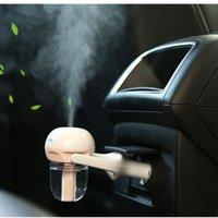 Wholesale 12v Car Air Freshener - Car Humidifier Air Purifier Freshener 50ML Essential Oil Diffuser Aromatherapy DC 12V Portable Auto Mist Maker Fogger