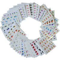 fransız çivi çıkartmaları tasarla toptan satış-50 levhalar Güzellik Tasarımlar Su Transferi Nail Art Sticker Çıkartmaları YENI Çiçek DIY Fransız İpuçları Tırnak Çıkartmaları Karışık Stilleri