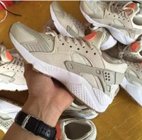 Wholesale B Bones - Huarache Run TXT Textile Running Shoes High Quality Sports Shoes for Men and Women Huaraches Sneakers 36-46 Light Bone Grey Blue White