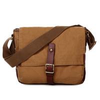 Wholesale Women Shoulder Bags For Work - Vintage Military Cotton Canvas Messenger Bag Shoulder Crossbody Satchel Bag Bookbag Laptop Bag Working Bag for Men and Women 603323