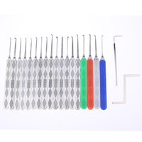 Wholesale Door Factory - Factory direct sale HUK door hardware sport High Quantity 18 Piece Lock Pick Set Locksmith Tool SYG-039