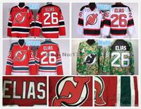 Wholesale Elias Jersey - 2016 New, Best Quality #26 Patrik Elias New Jersey Devils Hockey Jerseys Home Red White Camo Authentic NJ Devils Jersey Stitched A Pat