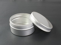 Wholesale Wholesale Metal Tin Containers - 60g Aluminium Cosmetic Jar Metal Cream Jars with screw lid Silver tin container bottle can empty box
