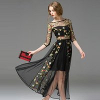 Plus Size Special Occasion Dresses Model Pictures Ball Gown 2016 European New Brands Women Lace Evening Dress Morning Glory Large Swing Embroideryper Lace Long Dresses Party Prom Wedding Evening Dress