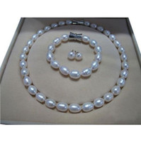 beaded necklaces bohemian womenu0027s rare 1012mm aaa natural white akoya pearl necklace bracelet earring