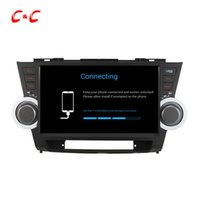 Quad Core HD 1024 * 600 Android 5.1.1 Carro DVD Play forToyota Highlander com GPS de navegação Radio Wifi Mirror link DVR