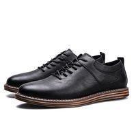 Wholesale England Shoes For Men - New Arrival Men Wedding Shoes Business Man's Lace-up Flat Shoes New England Fashion Leather Casual Shoes Designer Shoe for Men