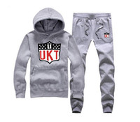 mode schweiß passt männer großhandel-Mode Unkut Sweat Anzug Hooded + Hosen Männer Männlich Kausalen Sportswear Sport Oberbekleidung Sweatshirt US Größe S-5XL