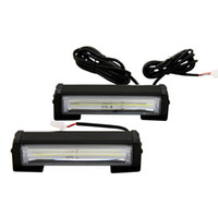 2pcs / lot High Power 32w Car COB Attenzione Luce esterna Emegenza Strobe Light Car Styling Warning Lamp
