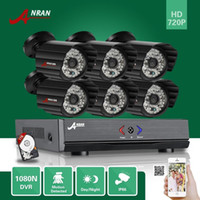 Wholesale Dvr Hdd Hdmi - ANRAN 8CH HD 1080N HDMI Video AHD DVR 6PCS CCTV IP66 Day Night Waterproof Outdoor Home Security Camera System Free 1TB HDD