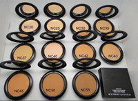 estúdios solares venda por atacado-Fundação Marca Make-up Estúdio Fix Bolo Em Pó Fácil de Usar Pó Blot Pressionado Em Pó Sol Bloco Fundação 15g NC NW