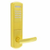 Wholesale Electronic Door Keys - KDL003GP 3 in 1 Smart Combination Electronic Door Lock Opens by Password Mechanical Key or Card for Exterior Door