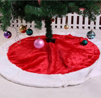 Wholesale Dropship Skirt - Wholesale- Christmas 120cm NEW Holiday Style Red White Felt Snowflake Christmas Tree Skirt levert dropship 2jul20