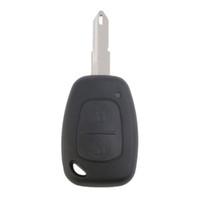shell clé vide achat en gros de-2 boutons à distance clé porte-clés fob shell vierge pour Vivaro pour Movano pour Renault Traffic pour KANGOO pour NISSAN