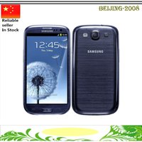 Wholesale Galaxy S3 Nfc - Original refurbished Samsung Galaxy S3 i9300 Quad Core 1gb 16gb 8MP Camera NFC 4.8'' GPS Wifi 3G Unlocked phone with sealed box