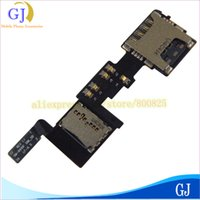Wholesale Sim Card Memory Sd Holder - Wholesale-SIM card SD memory holder tray flex cable For Samsung Galaxy Note4 N910F replacement ,free shipping