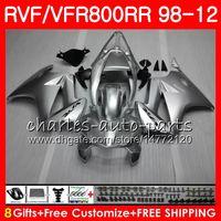 vfr engelle kırmızı toptan satış-VFR800 HONDA Interceptor için kırmızı alevler VFR800RR 98 05 06 07 08 09 10 11 90HM19 VFR 800 RR 1998 2005 2006 2007 2008 2009 2010 2011 Fairing