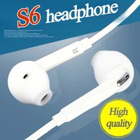 Wholesale Iphone Mic Volume Earphones - For Samsung S6 S7 Stereo Headsets In Ear Earphone with Mic and volume control Headphones for iphone 5S 6S Universal for Android phones